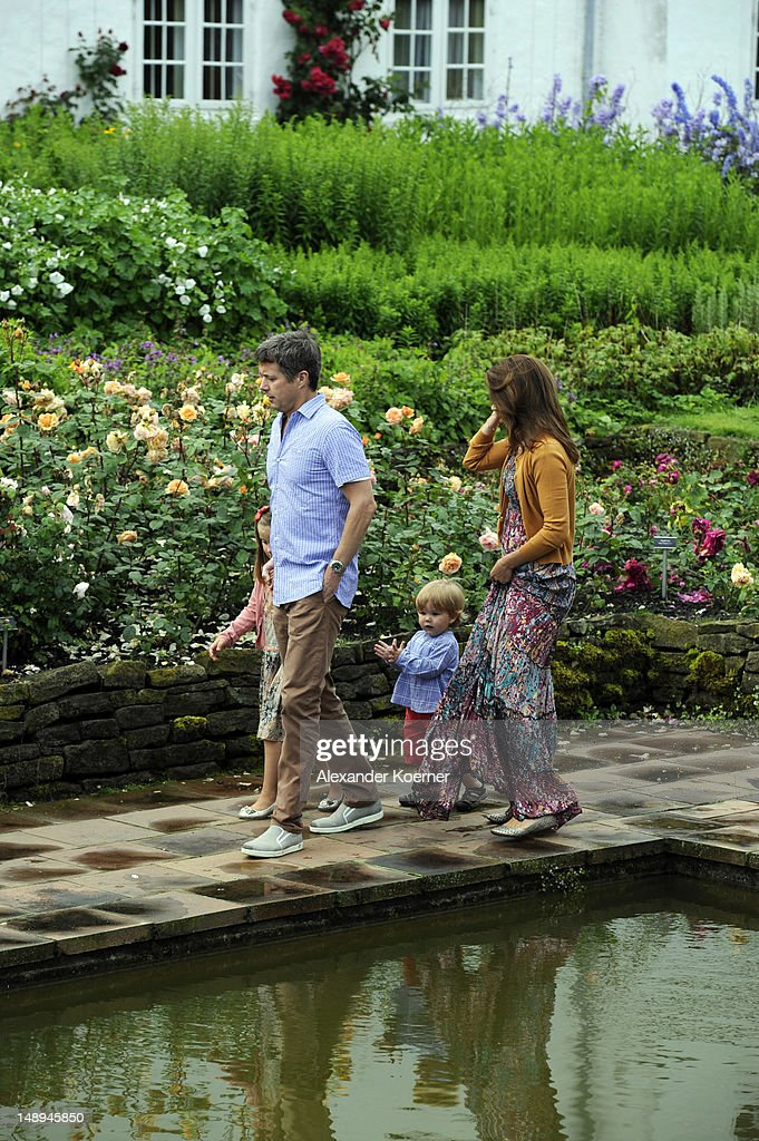 Princess Isabella, Prince Frederik of Denmark, Prince Vincent Frederik Minik Alexander and Princess Mary of Denmark pose during a photocall for the Royal Danish family at their summer residence of Grasten Slot on July 20, 2012 in Grasten, Denmark.