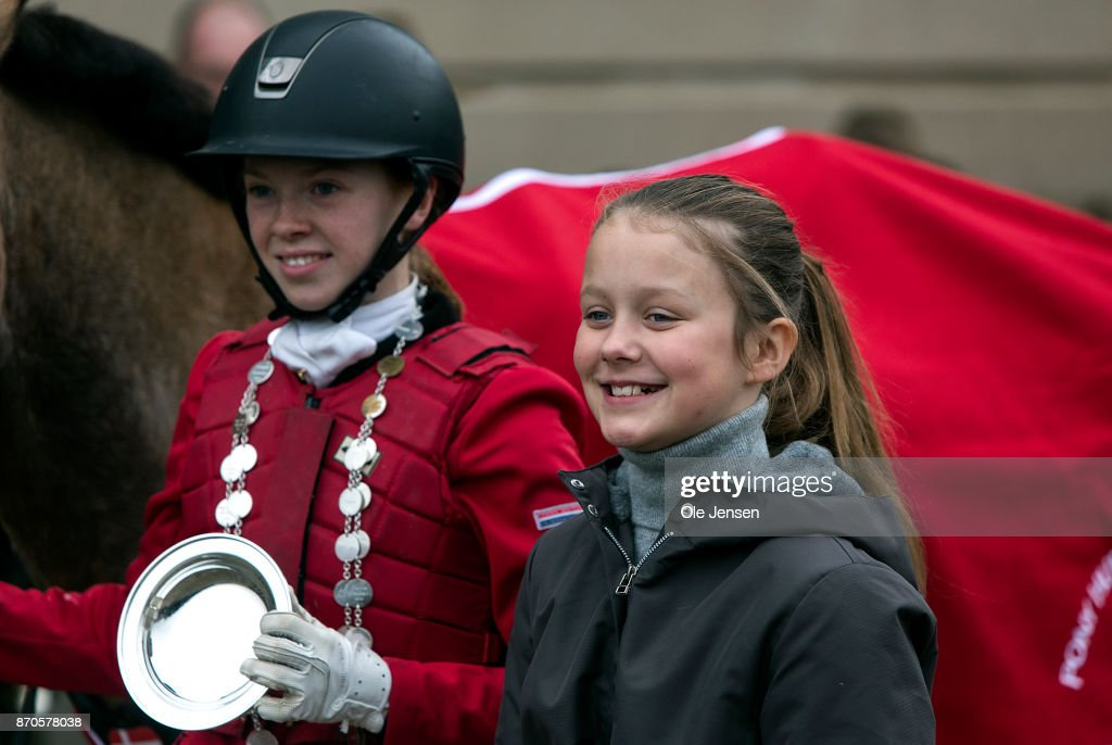 Crown Princess Mary And Children Attend The Yearly Hubertus Hunt At The Woodland Park 'Dyrehaven' Near Copenhagen : News Photo