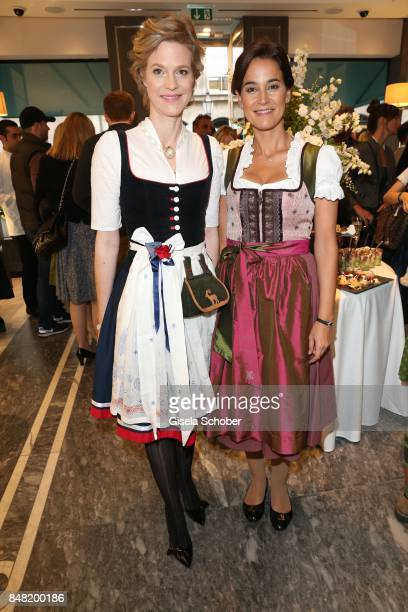 "Princess Isabelle ""Minzi"" zu Hohenlohe-Jagstberg and Sandra Mohsni during the 'Fruehstueck bei Tiffany' at Tiffany Store ahead of the Oktoberfest on..."