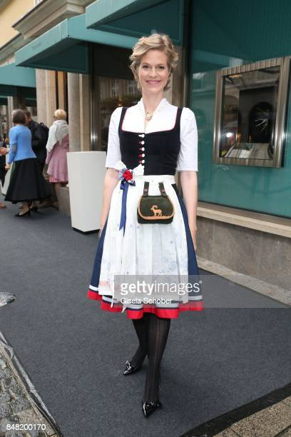 "Princess Isabelle ""Minzi"" zu Hohenlohe-Jagstberg during the 'Fruehstueck bei Tiffany' at Tiffany Store ahead of the Oktoberfest on September 16, 2017..."