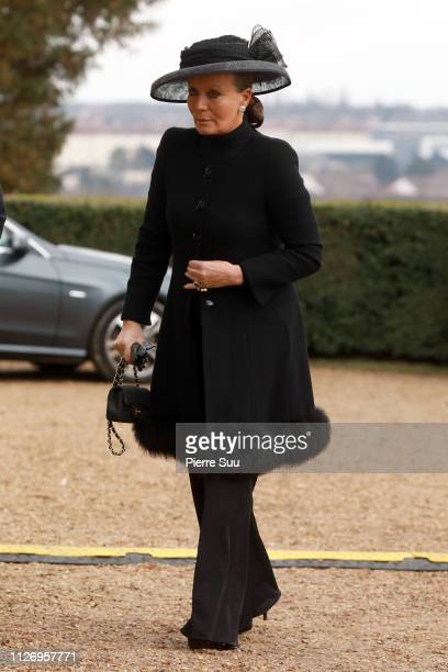 Princess Isabelle of Lichstenstein attend the Funeral of Prince Henri of Orleans Count of Paris at Chapelle Royale In Dreux on February 02 2019 in...