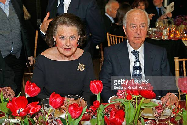 Princess JeanneMarie de Broglie and Edouard Balladur attend the 8th Annual Dinner of the 'Societe Des Amis Du Musee D'Art Moderne' at Centre Pompidou...