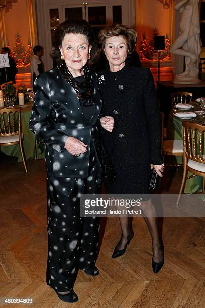 Princess JeanneMarie de Broglie and MarieLouise de Clermont Tonnerre attend the dinner party of the Societe Des Amis Du Musee D'Orsay at Musee...