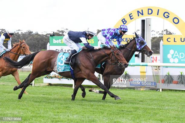 Princess Jenni ridden by Jye McNeil wins the Apiam Bendigo Cup at Bendigo Racecourse on October 28, 2020 in Bendigo, Australia.