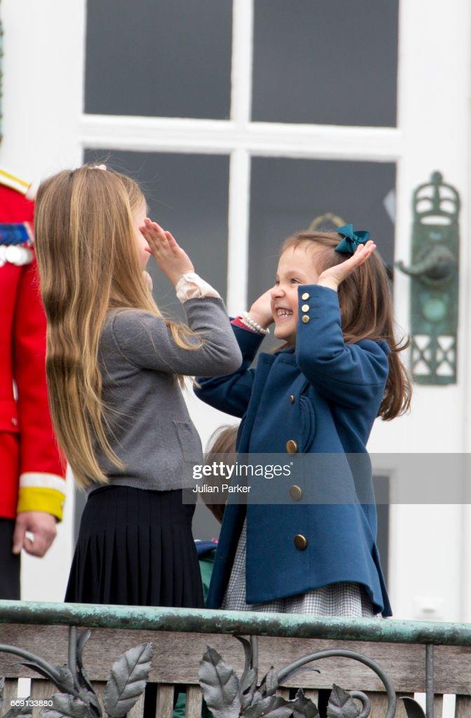 Queen Margrethe II of Denmark Celebrates Her 77th Birthday In Aarhus : News Photo