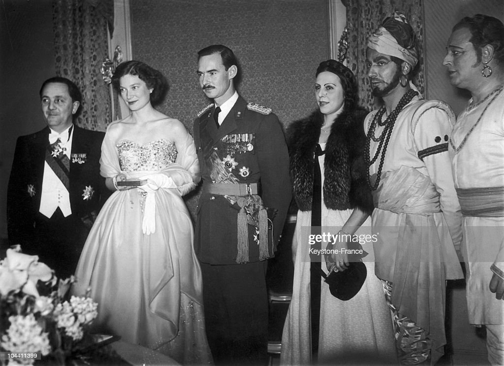 Princess Jospehine Charlotte Of Belgium And Prince Jean Of Luxembourg In Brussels 1953 : News Photo