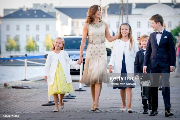 Princess Josephine of Denmark, Crown princess Mary of Denmark, Princess Isabella of Denmark, Prince Vincent of Denmark and Prince Christian of...