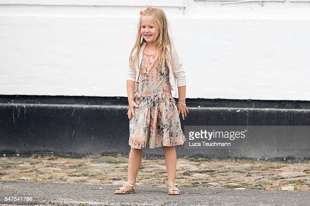 Princess Josephine of Denmark is seen during the annual summer photo call for The Danish Royal Family at Grasten Castle on July 25, 2015 in Grasten,...