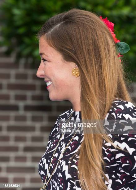 Princess Juiana of The Netherlands attends the wedding of Prince Jaime de Bourbon Parme and Viktoria Cservenyak at The Church Of Our Lady At...
