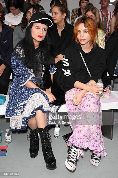 Princess Julia and Billie JD Porter attend the Ryan Lo presentation during London Fashion Week Spring/Summer collections 2017 on September 16 2016 in...