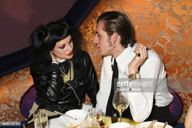 Princess Julia and Niall Underwood attend the Another Man Spring/Summer Issue launch dinner in association with Kronaby at Park Chinois on March 21...