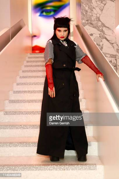 Princess Julia attends the Pat McGrath 'A Technicolour Odyssey' Campaign launch party at Brasserie of Light Selfridges on April 04 2019 in London...