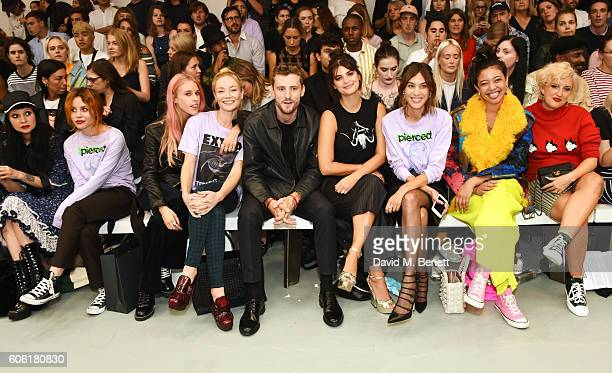 Princess Julia Billie JD Porter Mary Charteris Clara Paget George Barnett Pixie Geldof Alexa Chung Naomi Shimada and Aimee Phillips attend the Ashley...