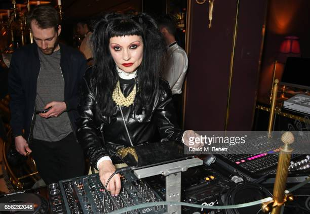 Princess Julia DJs at the Another Man Spring/Summer Issue launch dinner in association with Kronaby at Park Chinois on March 21 2017 in London England
