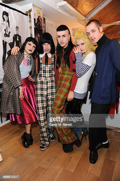 Princess Julia Josh Quinton Andy Bradin Pam Hogg and Robert Fox at the Future Factory launch party with Malibu Rum on May 8 2014 in London England