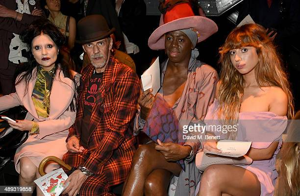 Princess Julia Judy Blame J Alexander and Foxes attend the Vivienne Westwood Red Label show during London Fashion Week SS16 at Ambika P3 on September...