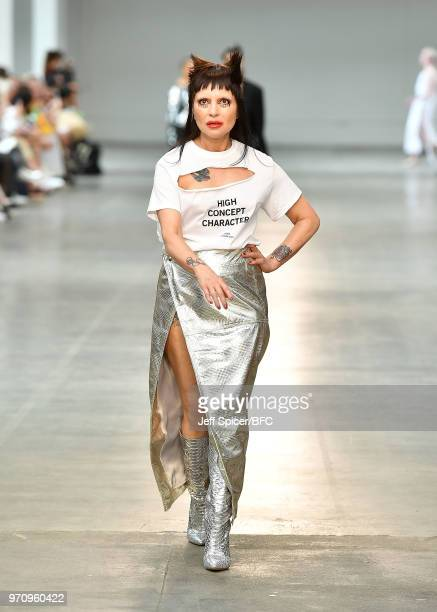 Princess Julia walks the runway at the Art School show as part of the MAN show during London Fashion Week Men's June 2018 on June 10, 2018 at the Old...