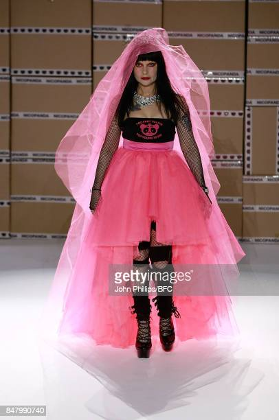 Princess Julia walks the runway at the Nicopanda show during London Fashion Week September 2017 on September 16, 2017 in London, England.