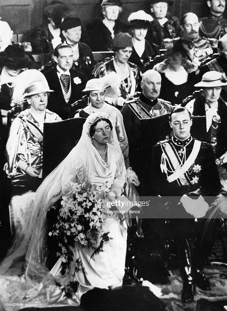 Wedding Of Princess Juliana Of Holland And Prince Bernhard At The Hague In 1937 : News Photo