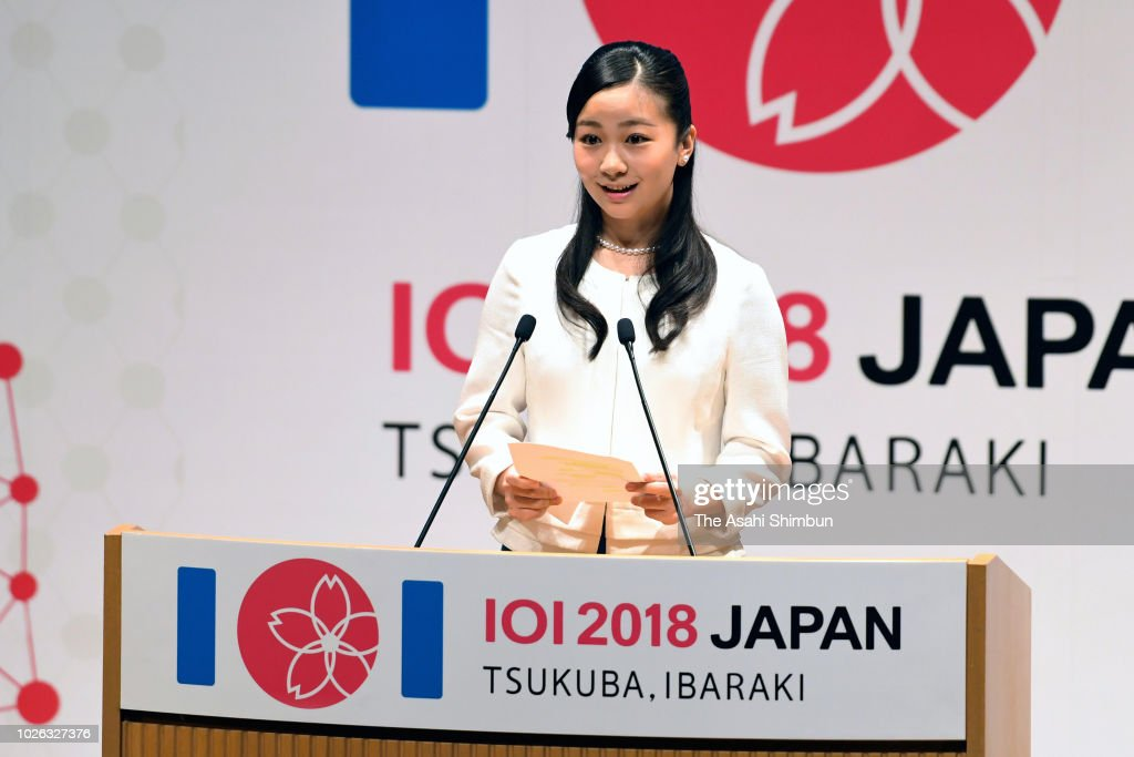 CASA IMPERIAL DE JAPÓN - Página 25 Princess-kako-of-akishino-addresses-during-the-international-olympiad-picture-id1026327376