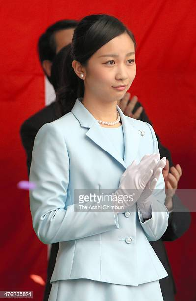 Princess Kako of Akishino attends the launching ceremony of the Japan Agency for MarineEarth Science and Technology 's new research vessel 'Kaimei'...