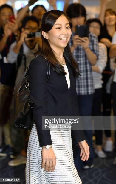 Princess Kako of Akishino is seen on departure at Haneda International Airport on September 12 2017 in Tokyo Japan Kako will study history theory and...