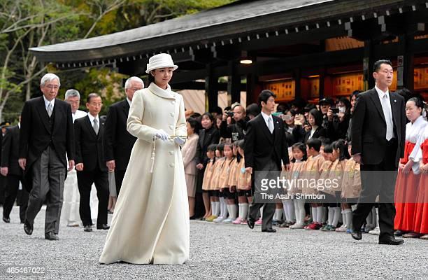 Princess Kako of Akishino visits Ise Shrine on March 6 2015 in Ise Mie Japan
