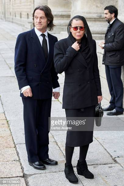 Princess Kalina of Bulgaria and husband Kitin Munoz attends a Mass in occasion of the 25th anniversary of death of Conde de Barcelona father of King...