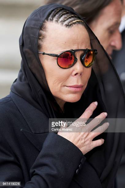 Princess Kalina of Bulgaria attends a Mass in occasion of the 25th anniversary of death of Conde de Barcelona father of King Juan Carlos at San...