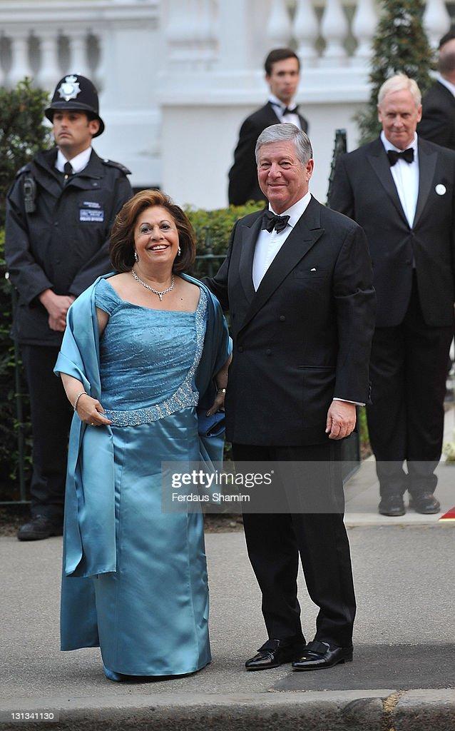 Princess Katarina of Yugoslavia and Crown Prince Alexander II of Yugoslavia attend the pre-Royal Wedding dinner at Mandarin Oriental Hyde Park on April 28, 2011 in London, England.