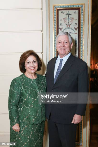 Princess Katherine of Serbia and Prince Alexander of Serbia during the Susan Gutfreund Hosts UN Women For Peace Association Reception on February 12...