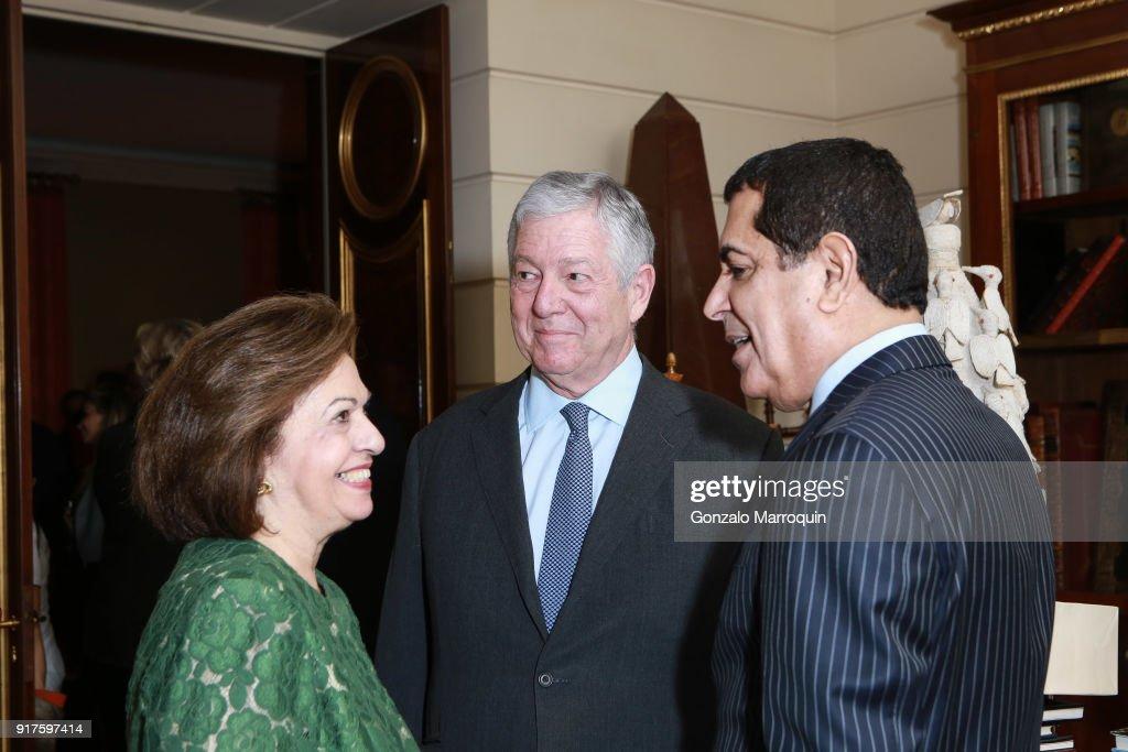 Princess Katherine of Serbia, Prince Alexander of Serbia and Nassir Abdulaziz Al-Nasser during the Susan Gutfreund Hosts UN Women For Peace Association Reception on February 12, 2018 in New York City.