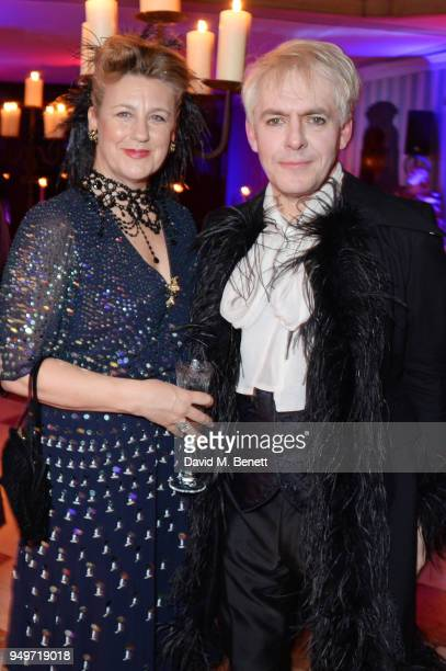 Princess Katya Galitzine and Nick Rhodes attend a party to celebrate Nefer Suvio's birthday hosted by The Count and Countess Francesco Chiara Dona...