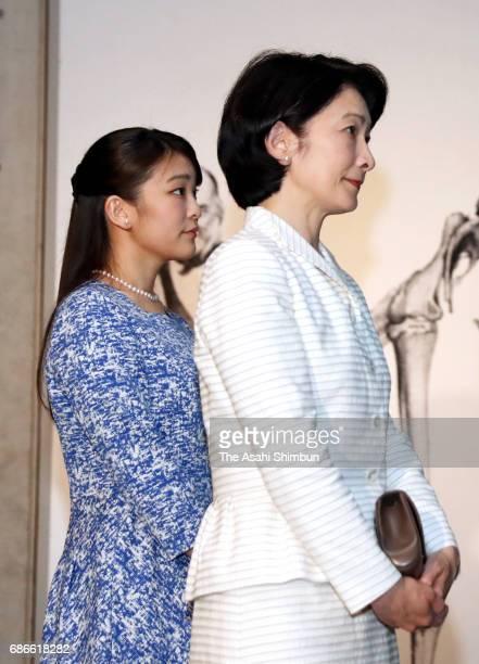 Princess Kiko and Princess Mako of Akishino visit the 'TREASURES of the Natural World Best of London's Natural History Museum' exhibition at the...