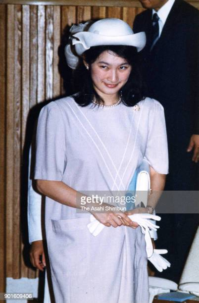 Princess Kiko of Akishino attends a music concert at the Imperial Palace on June 25 1991 in Tokyo Japan