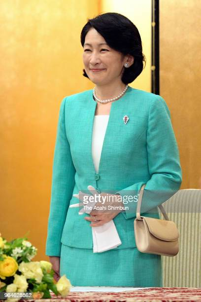 Princess Kiko of Akishino attends the AntiTuberculosis Association Meeting on May 31 2018 in Tokyo Japan