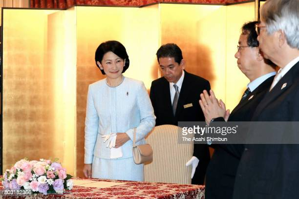 Princess Kiko of Akishino attends the ceremony of the Japan AntiTuberculosis Association Ceremony on June 28 2017 in Tokyo Japan