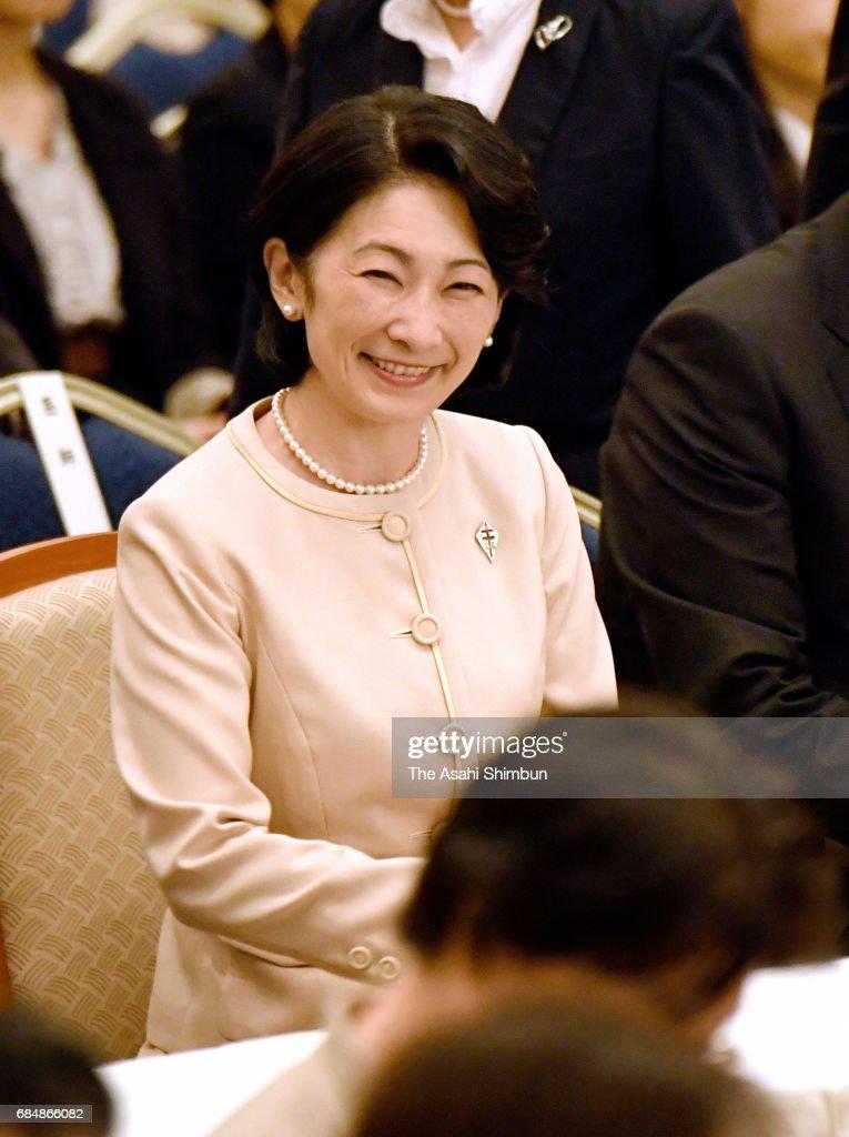 Princess Kiko of Akishino attends the Japan Anti-Tuberculosis National Assembly on May 18, 2017 in Sapporo, Hokkaido, Japan.