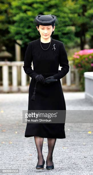 Princess Kiko of Akishino attends the memorial ceremony to commemorate the third anniversary of the death of Prince Katsura at Toshimagaoka Cemetery...