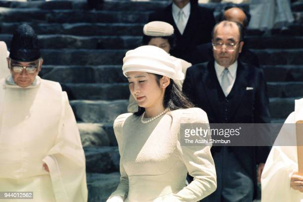 Princess Kiko of Akishino visit Ise Shrine on July 6 1990 in Ise Mie Japan