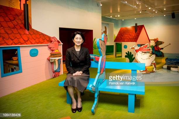 Princess Kiko of Japan visits the children book museum on October 27 2018 in The Hague Netherlands