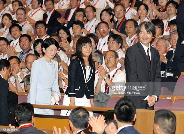 Princess Kiko Princess Kako and Prince Akishino attend the opening ceremony of the InterHigh School Cultural Festival at Miyazaki City Bunka Hall on...