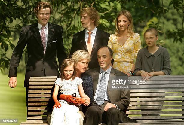Princess Laetitia Maria of Belgium, Princess Astrid of Belgium, Prince Lorentz of Belgium, Prince Amadeo of Belgium, Prince Joachim of Belgium,...