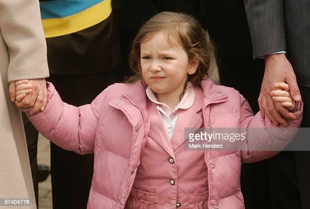 Princess Laetitia of Belgium, who turns three today, attends 14 Days of The Belgian Red Cross with her parents April 23, 2006 in De Panne, Belgium....