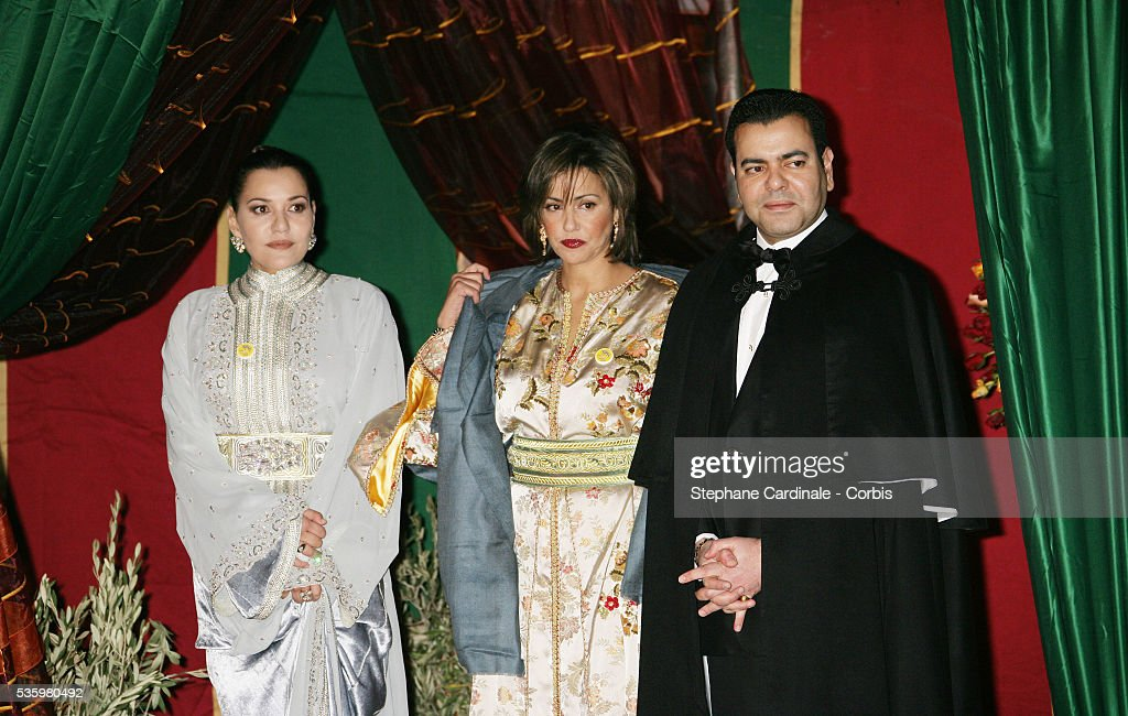 HRH Princess Lala Asma, HRH Princess Lala Myriam and HRH Prince Moulay Rachid attend the opening dinner of the 2005 Marrakech Film Festival.