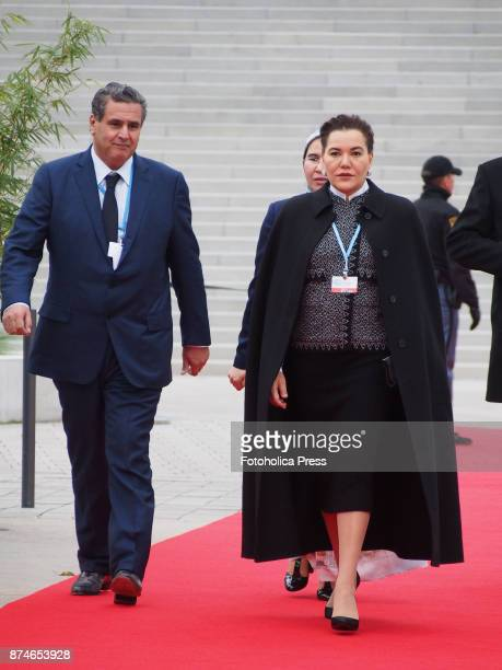 Princess Lalla Hasna of Morocco arriving to the United Nations Framework Convention on Climate Change UNFCCC COP23