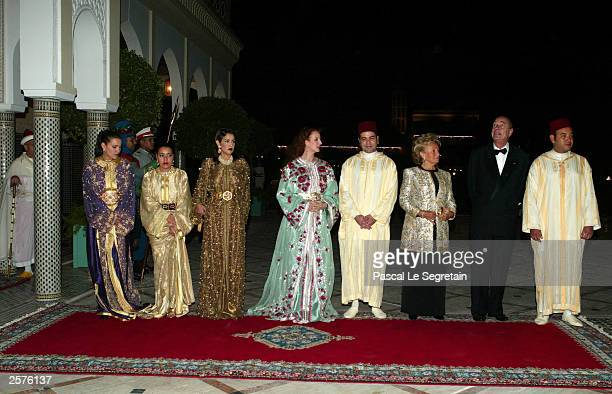 Princess Lalla Hasna Princess Lalla Hasma Princess Lalla Meriam Princess Lalla Salma Prince Moulay Rachid Bernadette Chirac French President Jacques...