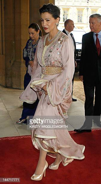 Princess Lalla Meryem of Morocco arrives at Windsor Castle west of London on May 18 for a Sovereign's Jubilee Lunch hosted by Britain's Queen...