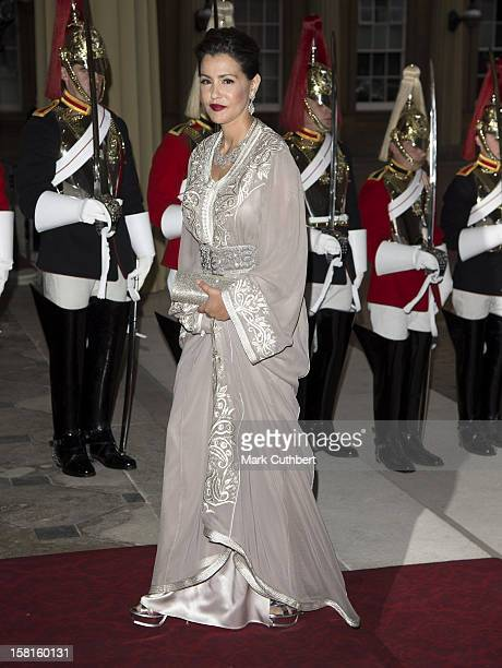 Princess Lalla Meryem Of Morocco Arriving For A Dinner Hosted By Prince Charles Prince Of Wales And Camilla Duchess Of Cornwall For Foreign...