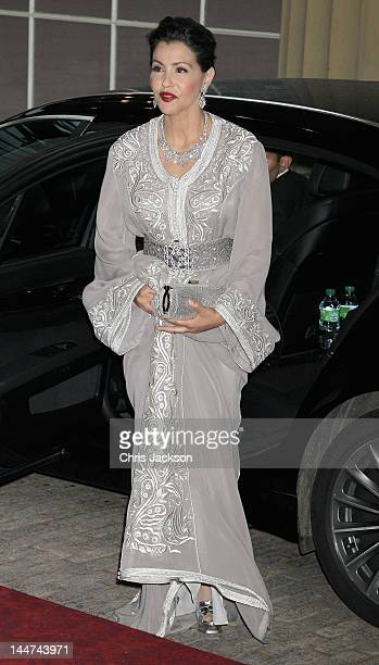 Princess Lalla Meryem of Morocco attends a dinner for foreign Sovereigns to commemorate the Diamond Jubilee at Buckingham Palace on May 18 2012 in...